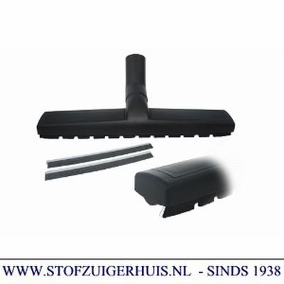 Bedrijfszuigmond 36mm, met borstel- en dweilstrips - 36cm