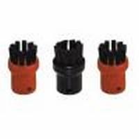 3 Karcher stoomreiniger rood / zwarte borstels in een pak