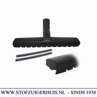Bedrijfszuigmond 38mm, met borstel- en dweilstrips - 36cm
