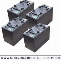 Tennant S12 Batterijset, onderhoudsvrij, monoblock-, 4 x 6V