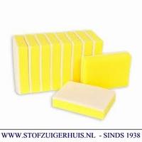 Sanitairspons groot geel / wit (10)