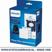 Philips Performer Compact Allergy filter replacement kit